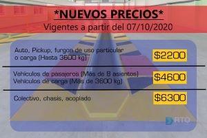 RTO Nuevos Precios
